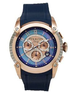Mulco MW1-21160-044 Deep Scale Collection blue chronograph watch MULCO. $469.00. Official Internet Distributors, Warranty valid in the US and Venezuela. Sports silicon band. Swiss movement mechanism. Round dial luxury watch