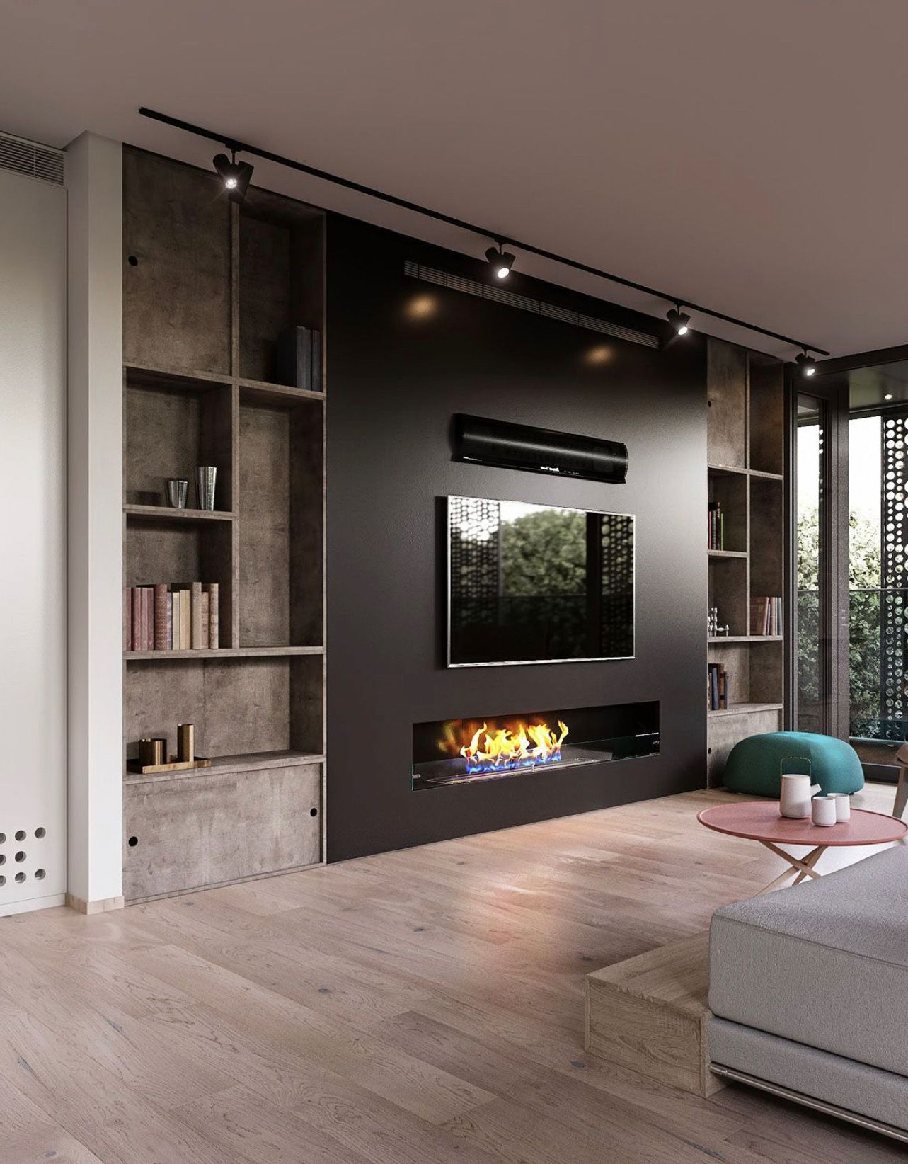 Amazing fire place ideas for our loft | Living room tv ...