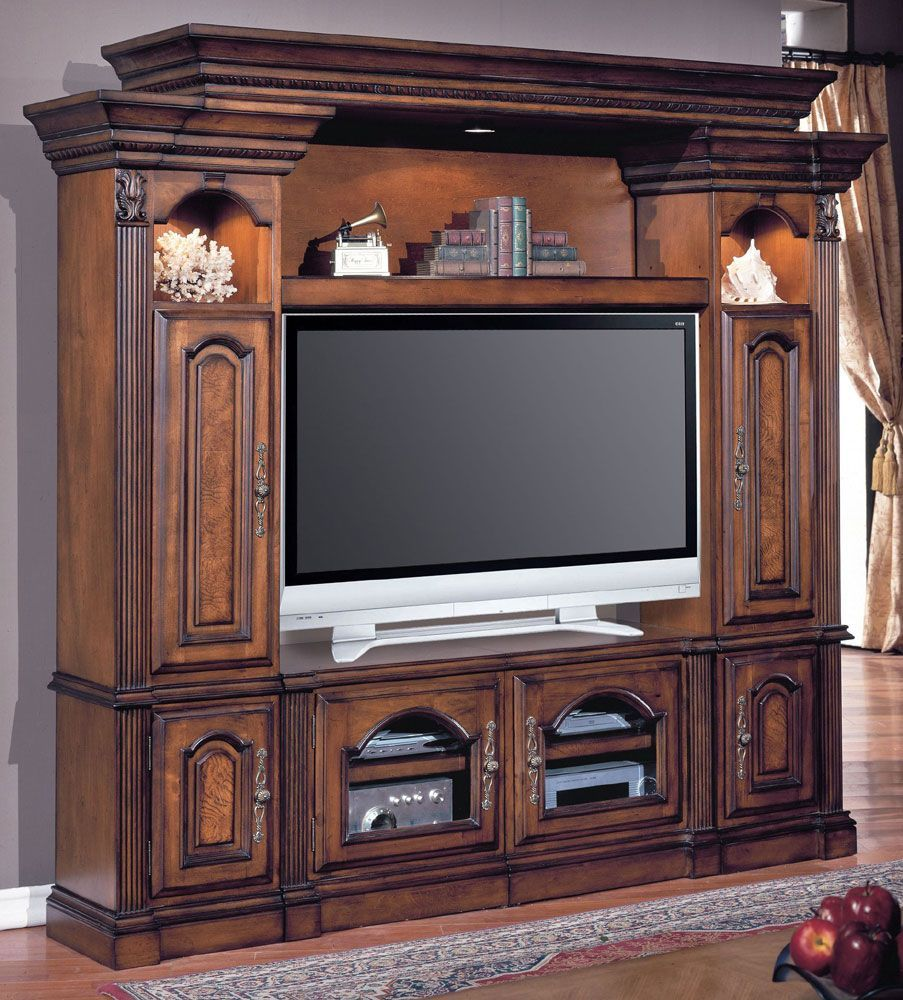 Elegant Home Gallery Furniture For Parker House Entertainment Centers, 4 Piece  Space Saver Entertainment Wall