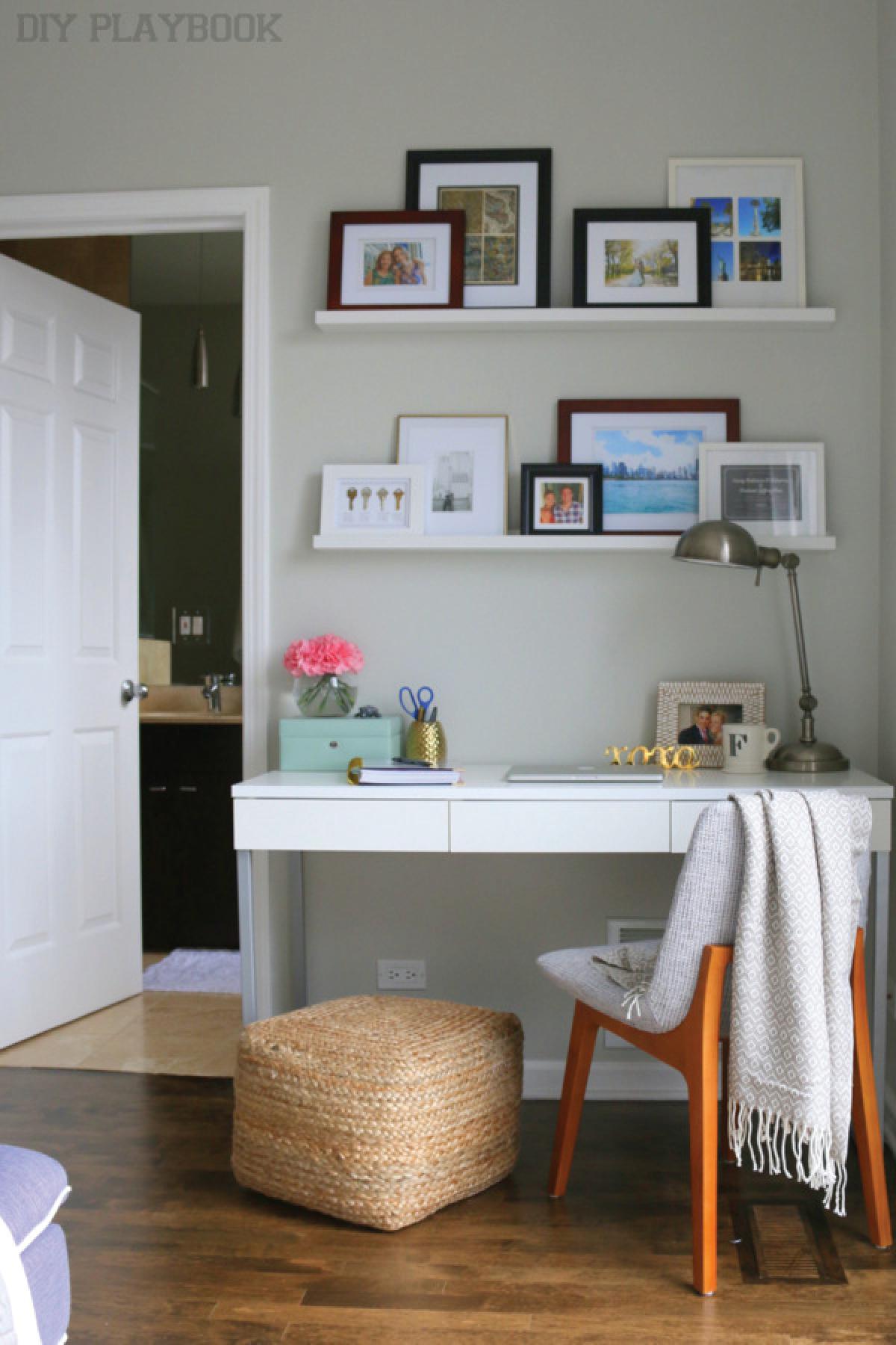 How To Hide Desk Cords Small Bedroom Desk Desk In Living Room