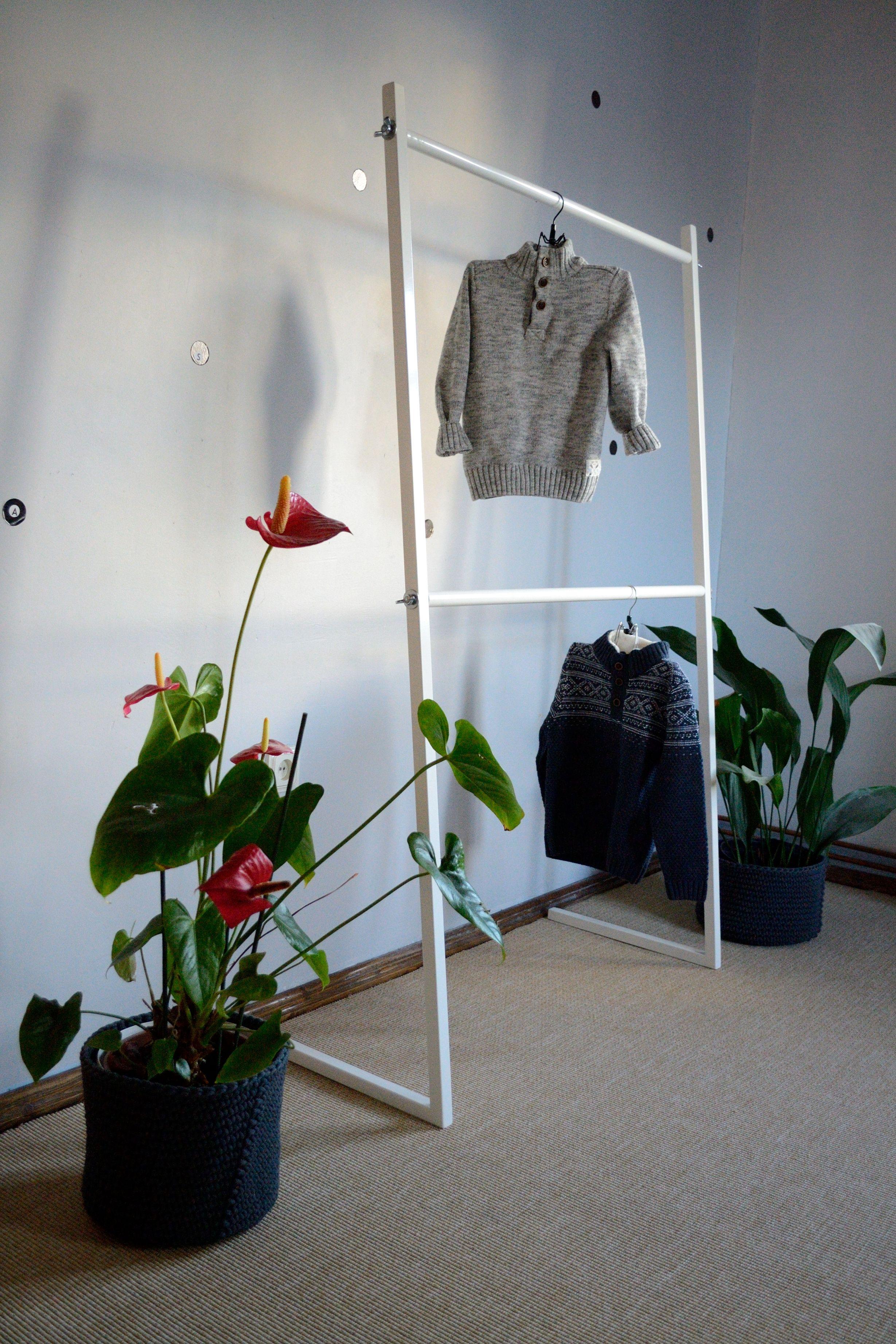 a mocka ac wooden clothes minka rack kids frame wardrobe
