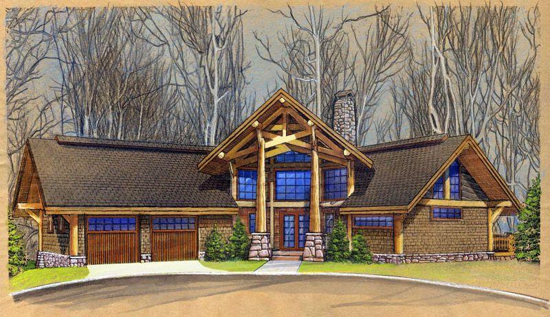 Custom Log Home Design   Murray Arnott Design CherrydaleCustom Log Home Design   Murray Arnott Design Cherrydale  . Post And Beam Home Designs. Home Design Ideas
