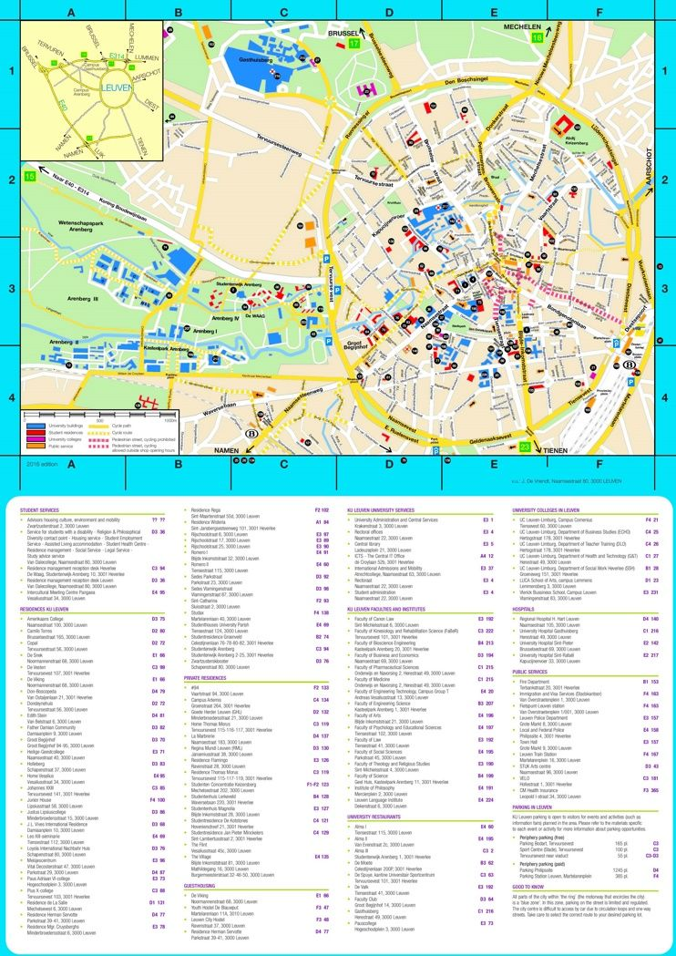 Leuven hotels and sightseeings map | Maps