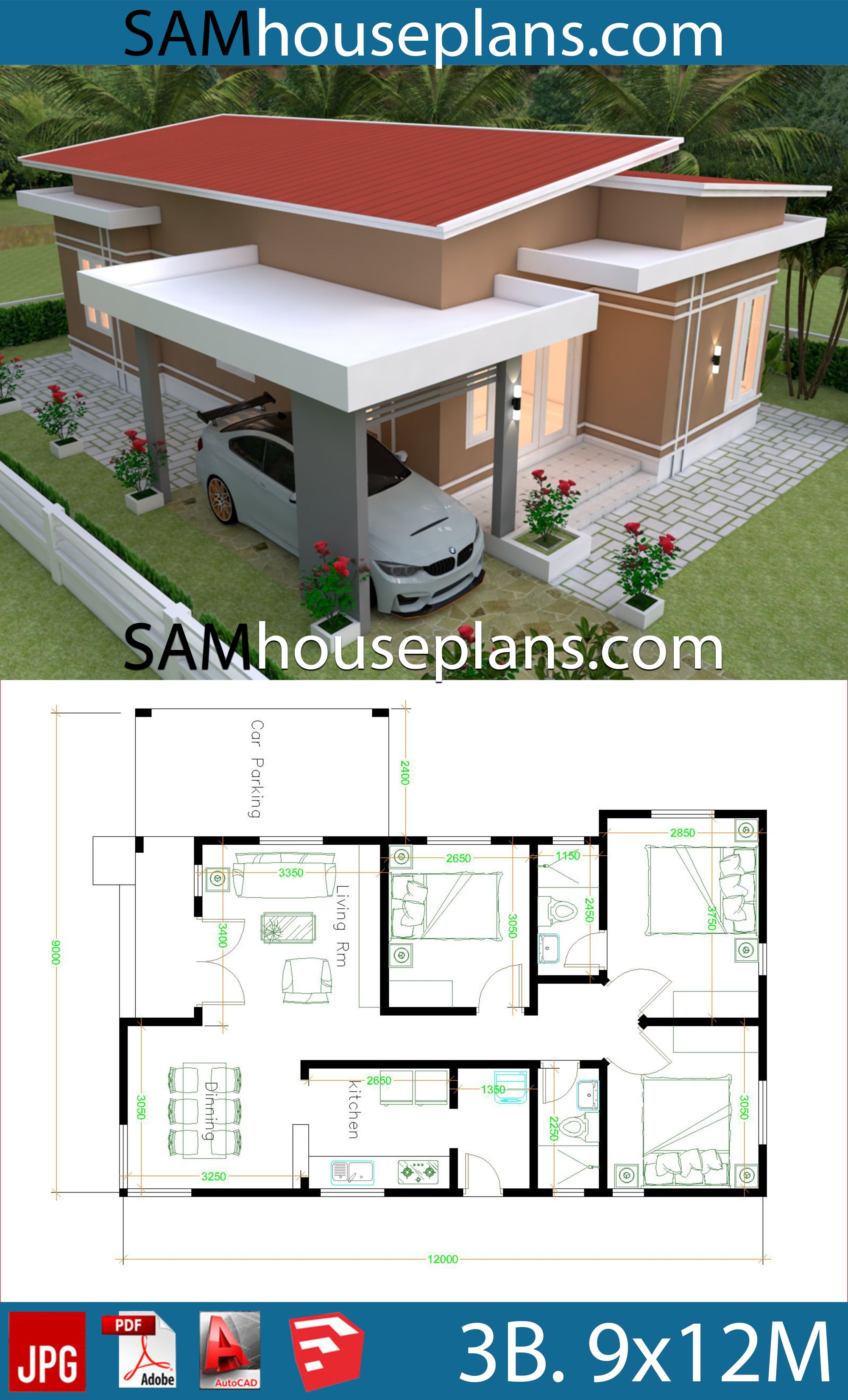 House Plans 9x12 With 3 Bedrooms Roof Tiles House Plans Free Downloads Architectural House Plans Small House Design Plans Simple House Design