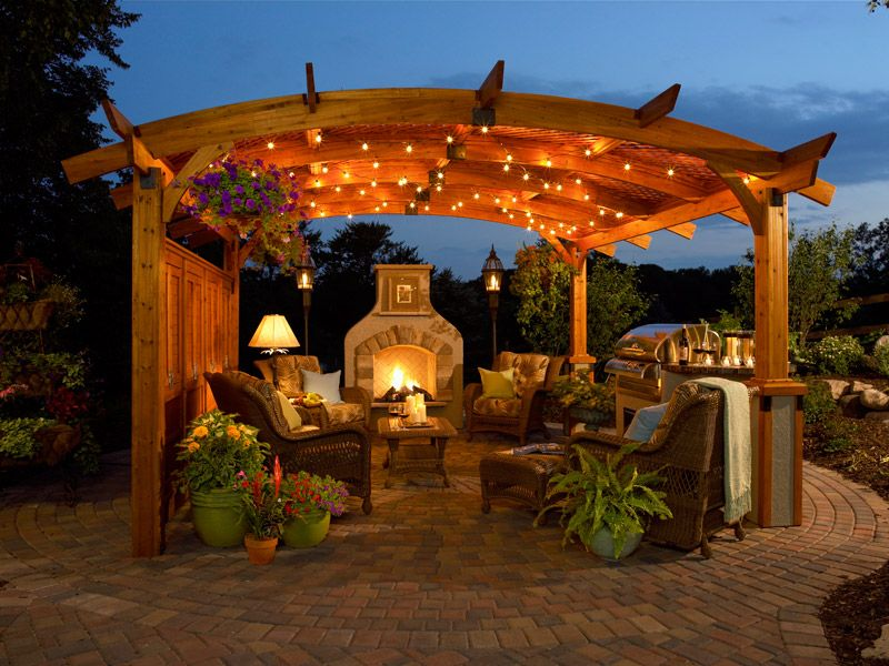 Home Decoration Romantic Gazebo Ideas With Lighting And Plants