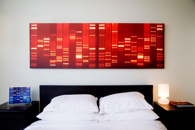 How to turn your dna fingerprints kisses into wall art dna