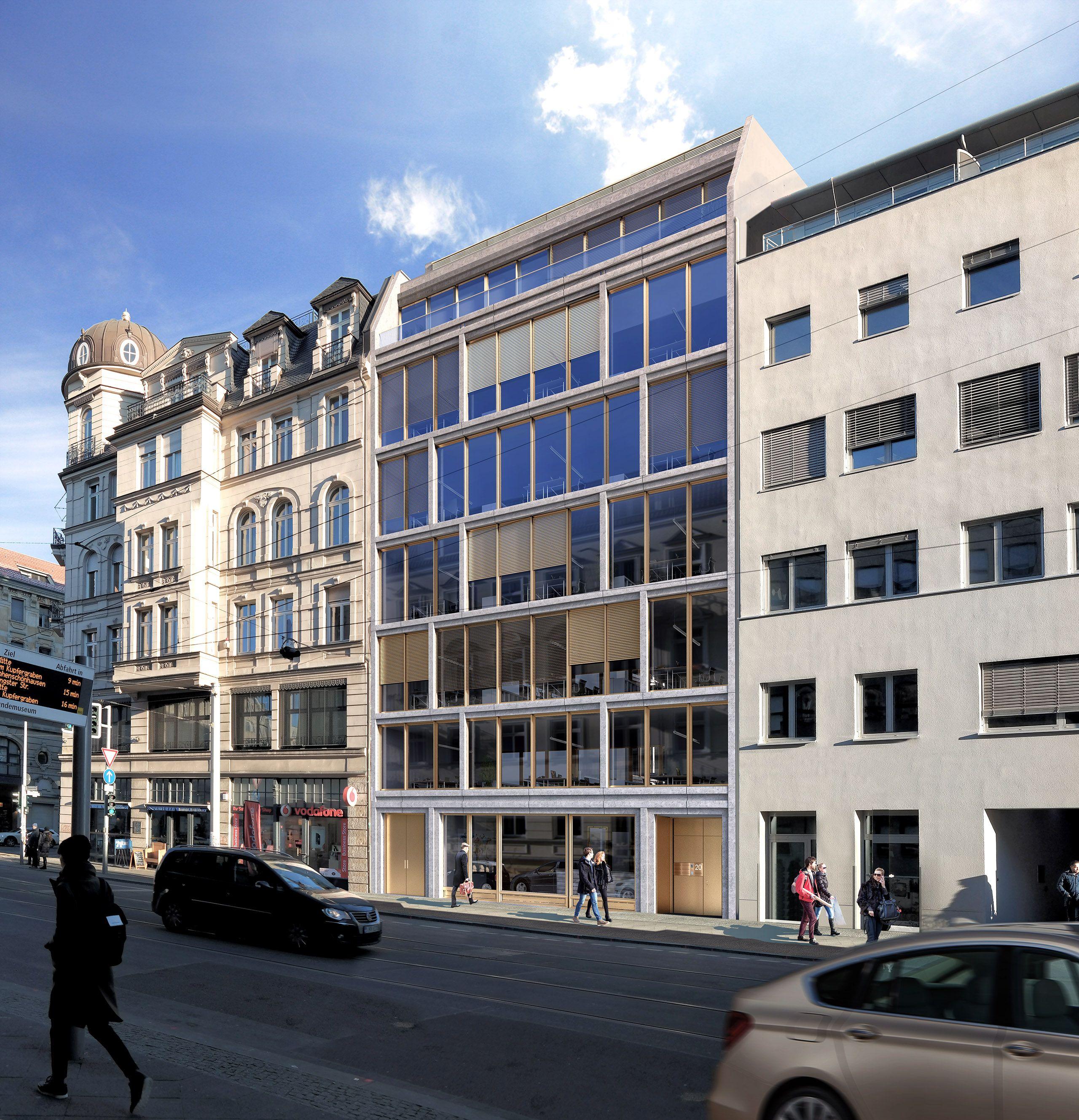 Architekturvisualisierung Berlin berlin mitte city invalidenstraße office render manufaktur