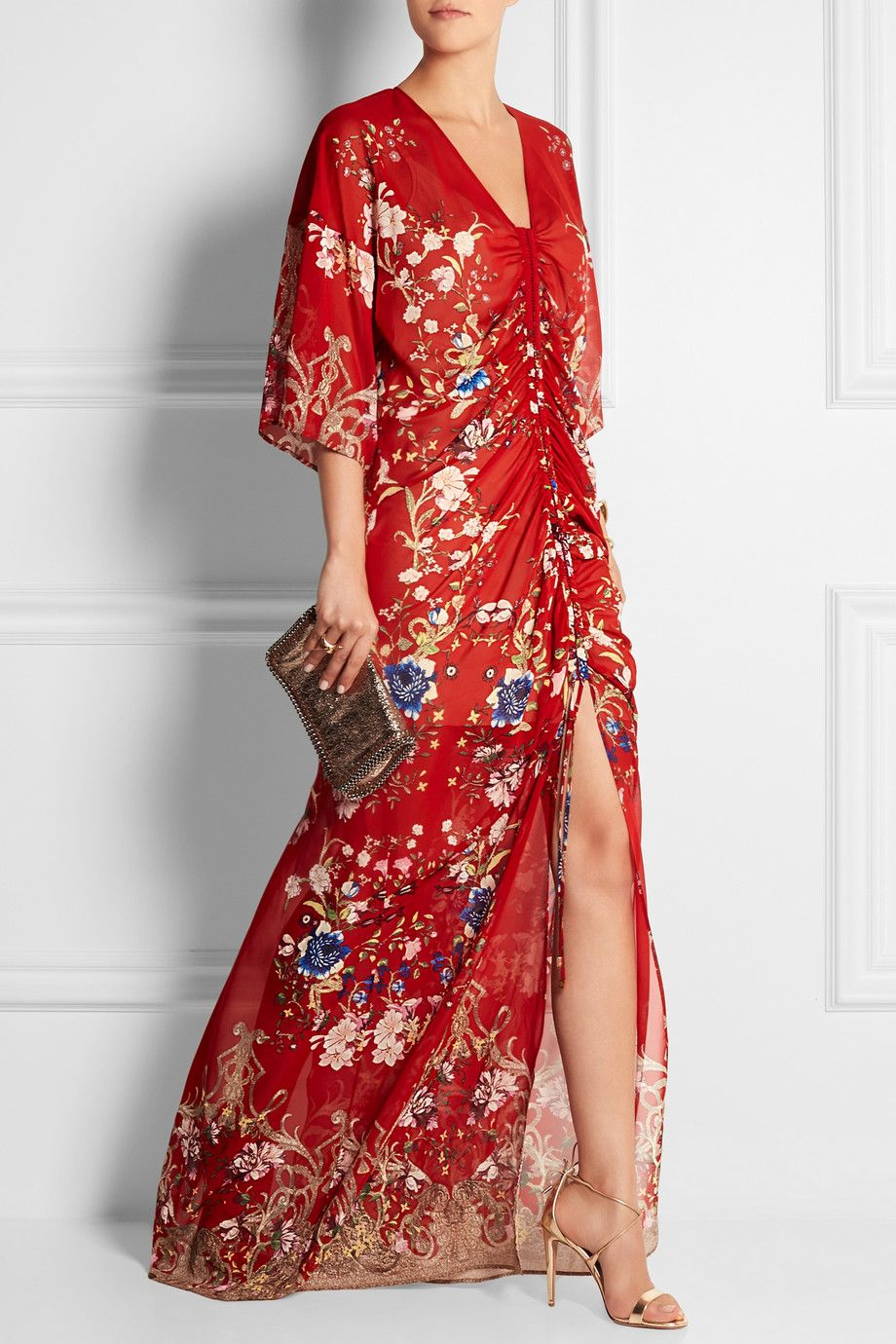 a30d84c6da52c Roberto Cavalli   Floral-print silk-chiffon gown   NET-A-PORTER.COM ...