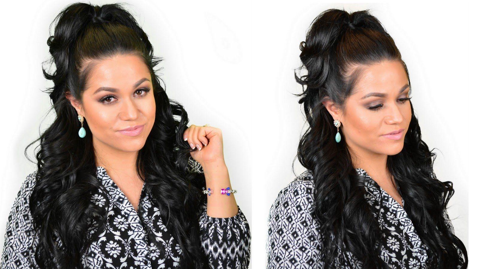Khloe Kardashian Half Up High Ponytail Hairstyle Using Clip In Hair
