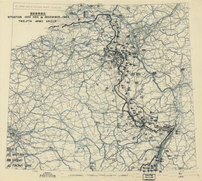 The battle of the bulge december 16 1944 to january 18 1945 the battle of the bulge december 1944 to january 1945 world war ii military situation maps gumiabroncs Choice Image