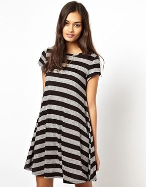 273ad16d263 Comfy summer dress - Glamorous Swing Dress in Flecked Jersey Stripe ...