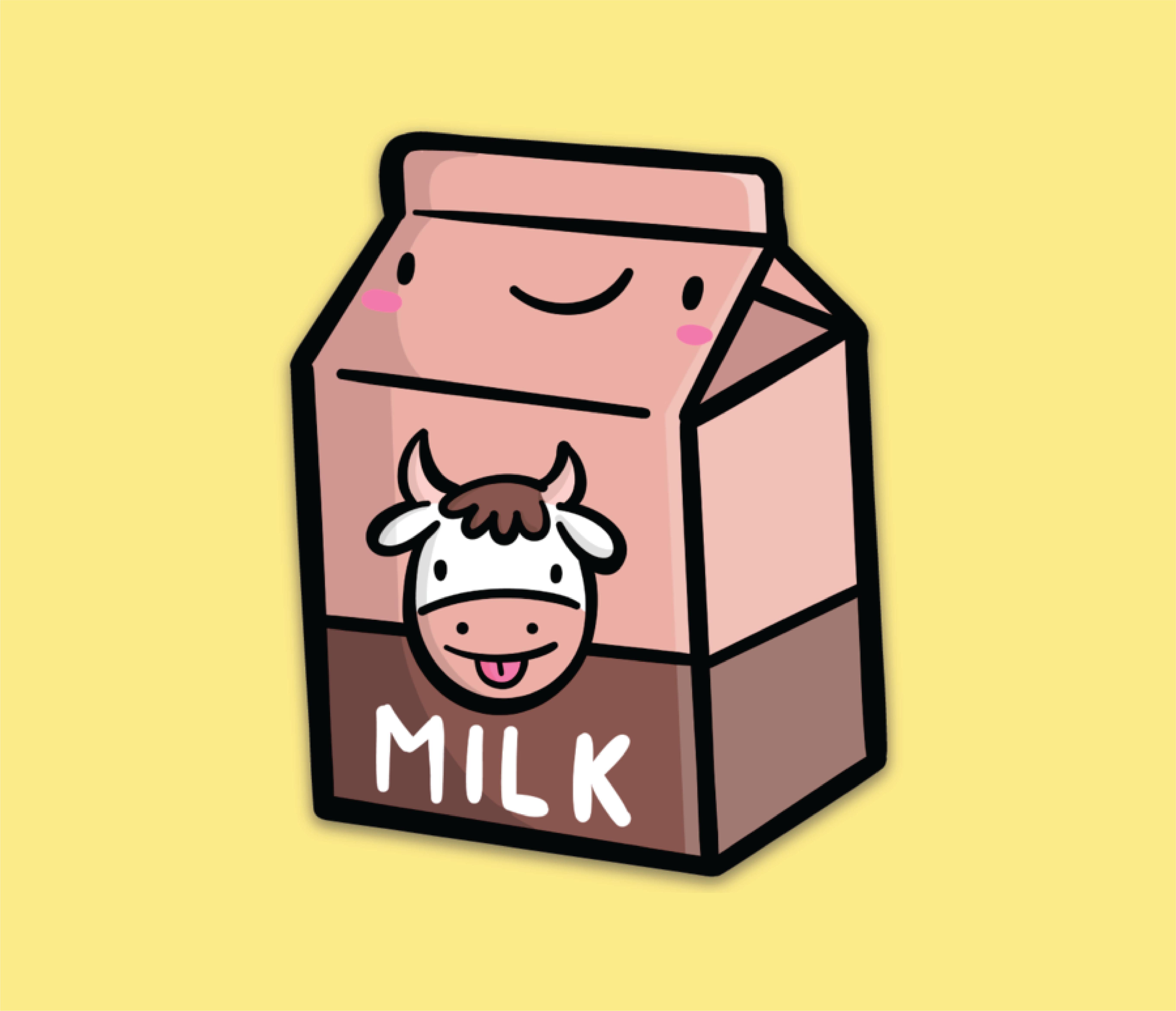 Chocolate Milk Vinyl Sticker Stiker Desain Stiker Desain