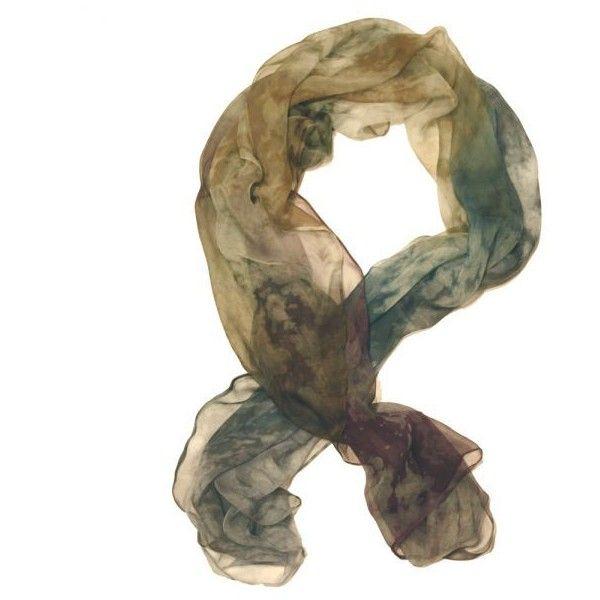 Rosie Gowans ocean night - silk chiffon scarf ❤ liked on Polyvore