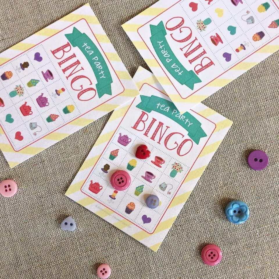 Tea Party BINGO printables! Perfect game for a Mother\'s Day tea or ...