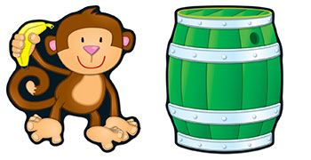 Monkeys  Barrels Accents by Carson Dellosa $5.99