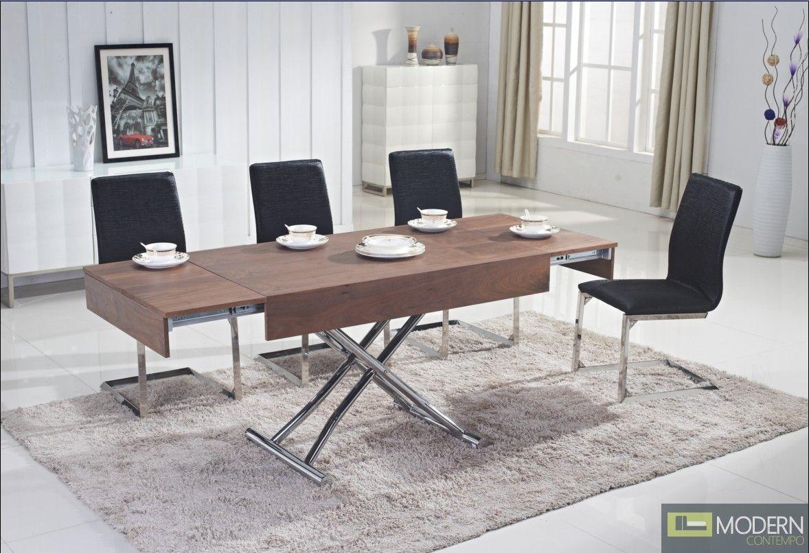 Acacia ii rectangular convertible coffeedining table