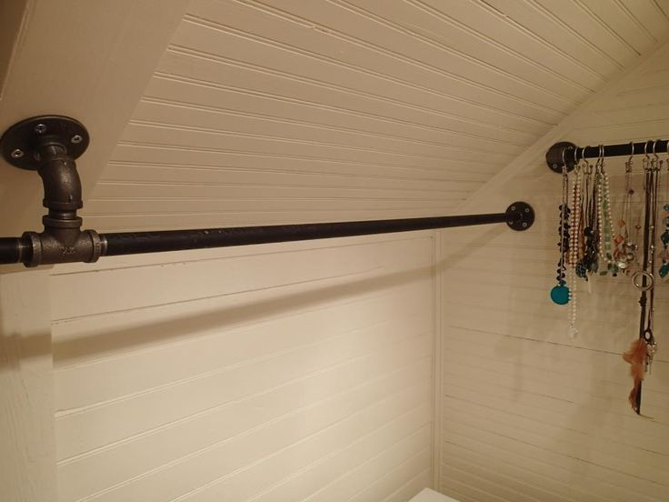 Closet Rod Brackets Angled Ceiling Mount