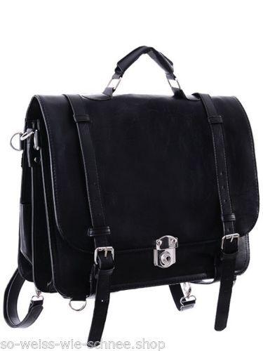 Restyle-Rucksack-Schul-Tasche-Gothic-Kunst-Leder -Steampunk-Bag-Vintage-Backpack 3f00de866d