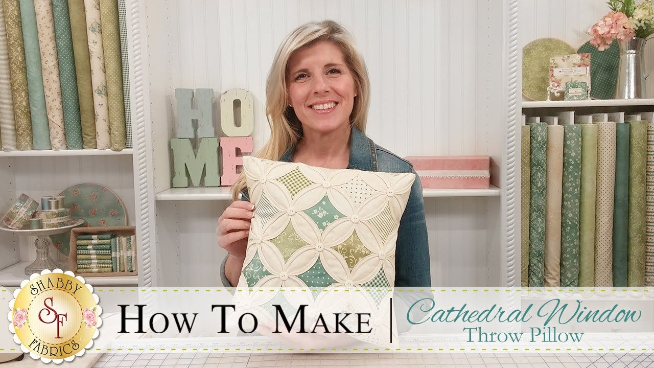 How to Make a Cathedral Window Pillow | with Jennifer Bosworth of