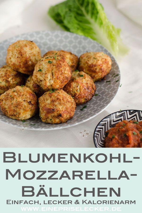 Blumenkohl-Mozzarella-Bällchen | Rezept | *Mittag- oder ...