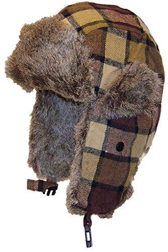 16c3a3afa65 Angela  amp  Williams Tartan Plaid Russian Trooper W Faux Fur Winter Hat (