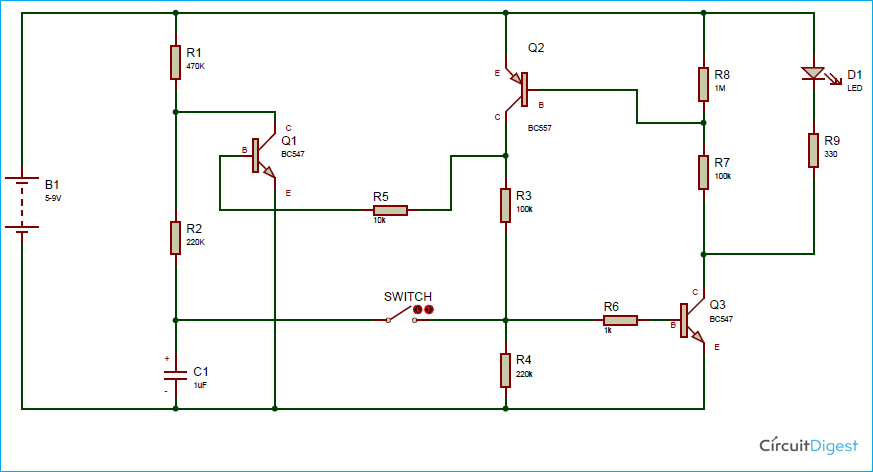 Soft Latch Switch Circuit Circuit Diagram Circuit Electronics Circuit