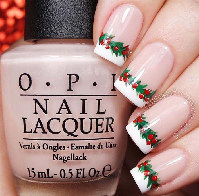 53 Sparkling Holiday Nail Art Designs To Try This Christmas ...