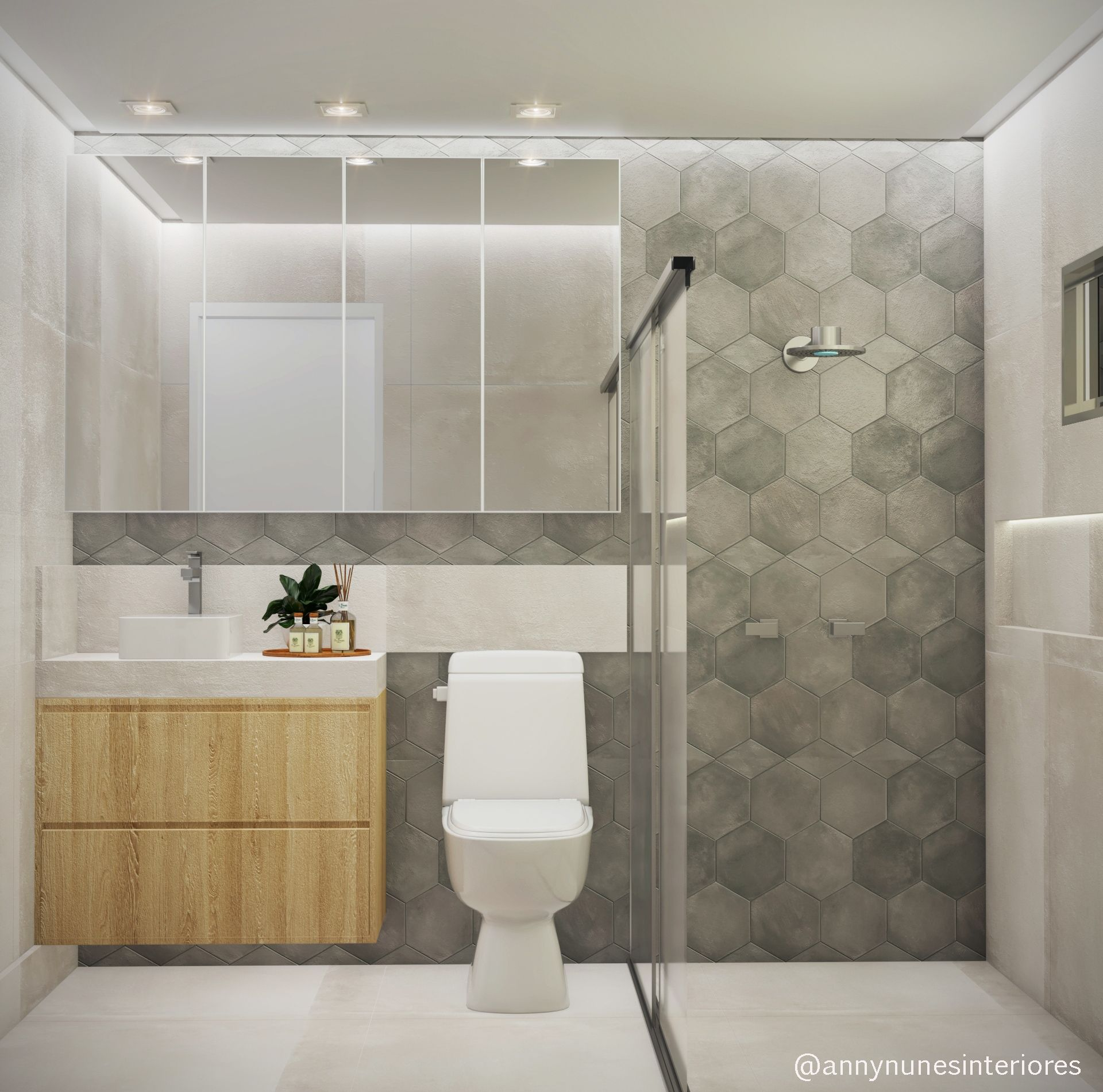 Industrial Interiordesign Bathroom: #wc #banheiro #casaljovem #jovemcasal # Interiordesign