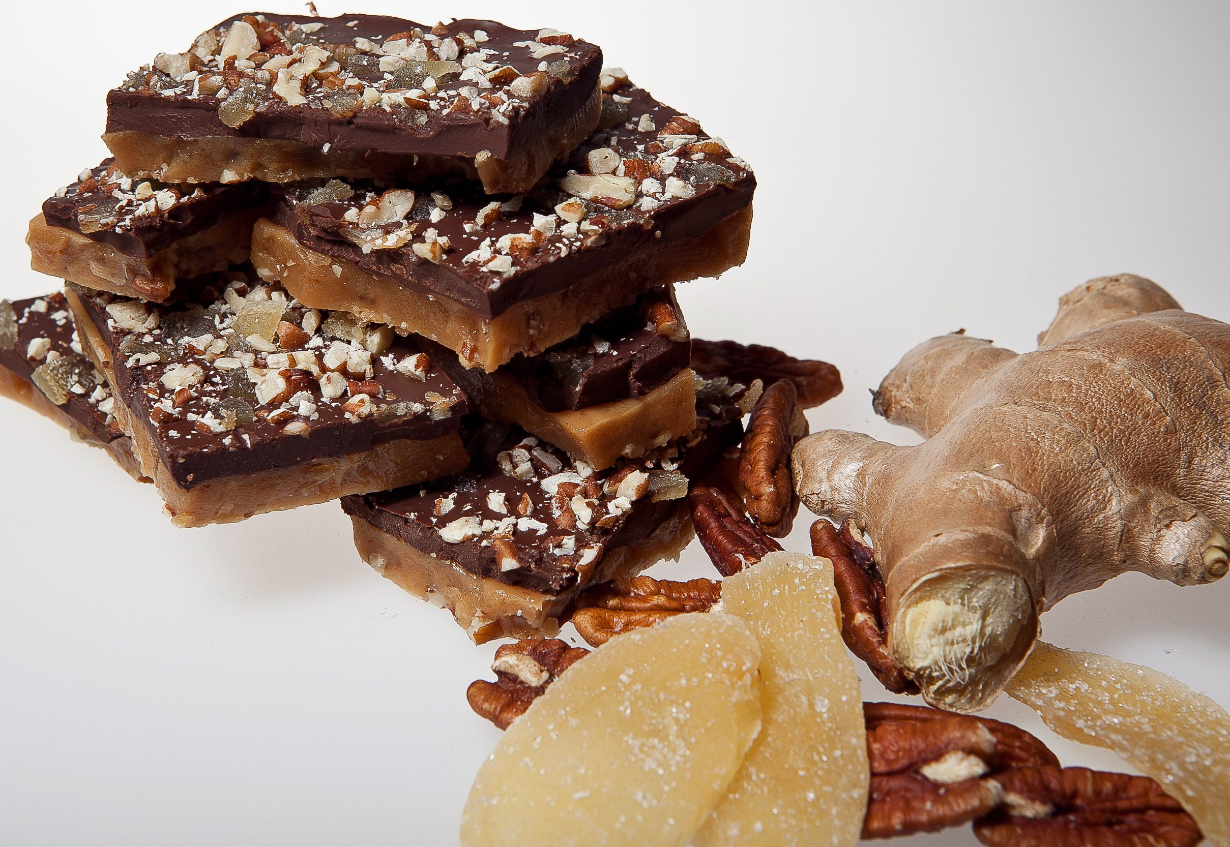 Candied Ginger & Pecan ~ Sweet & Slightly Spicy combo timefortoffee.com