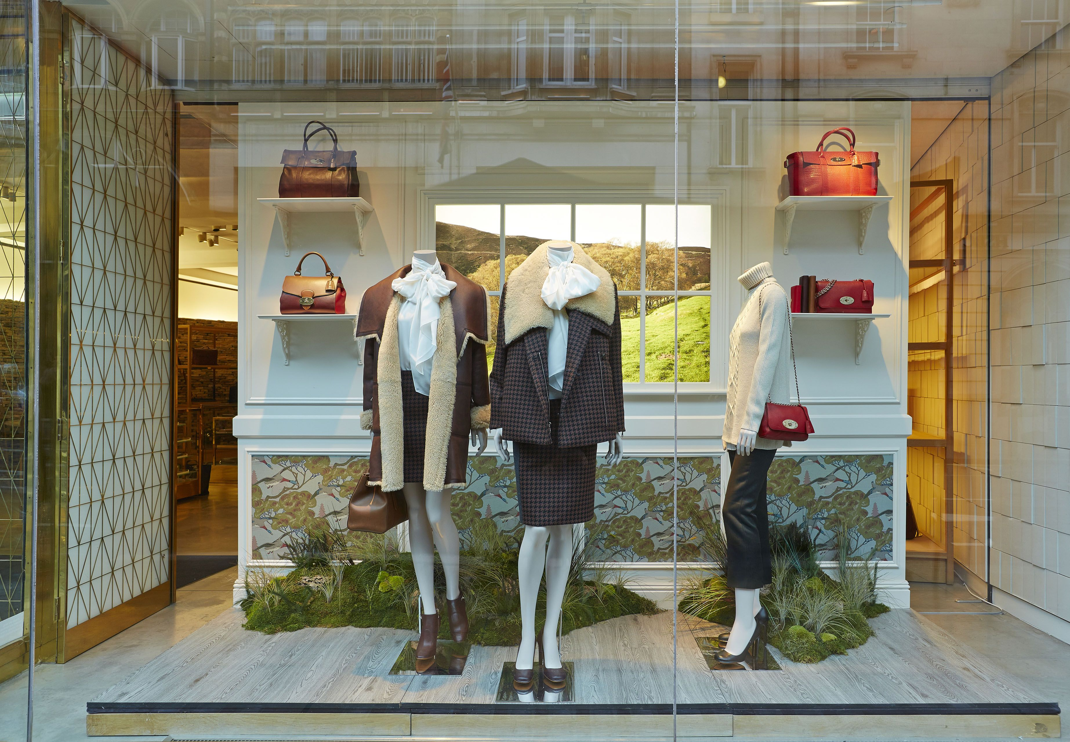 Mulberry Autumn Winter 2017 Windows By Elemental Design Photo Courtesy Of