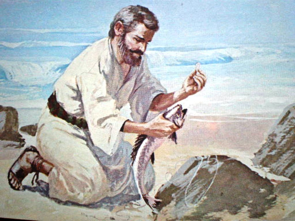 Image result for free photo of Matthew 17:22-27