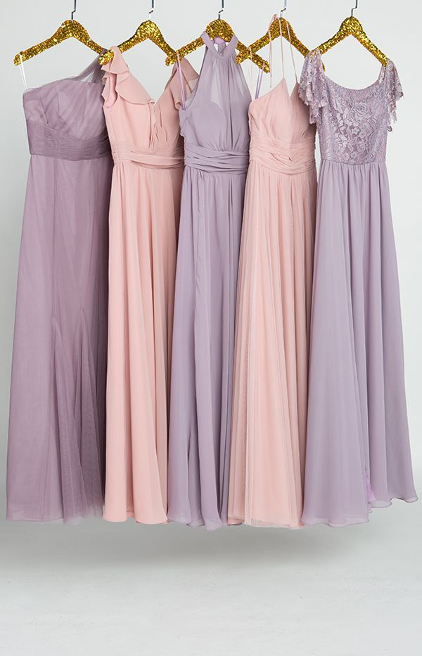 dusty rose and mauve lavender mix and match bridesmaid dresses ...