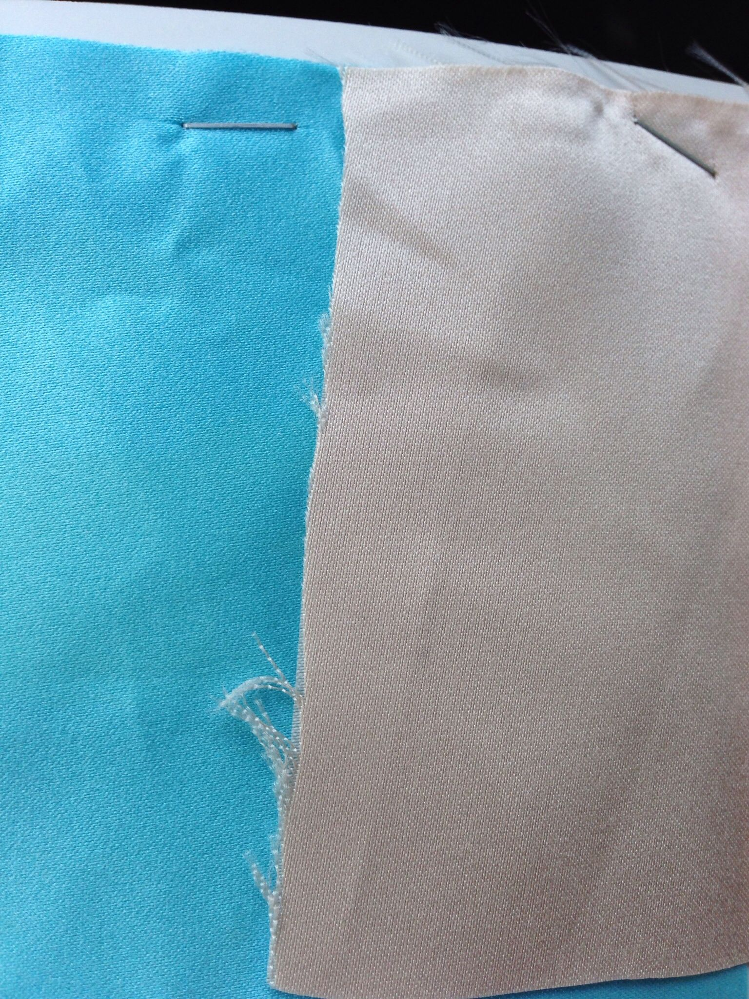 Bridesmaid dress colours. Blue is the underskirt