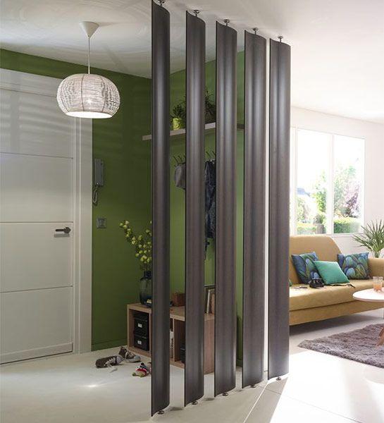 ces grandes bandes qui se dressent entre 2 espaces donnent vie une entr e tout en laissant. Black Bedroom Furniture Sets. Home Design Ideas