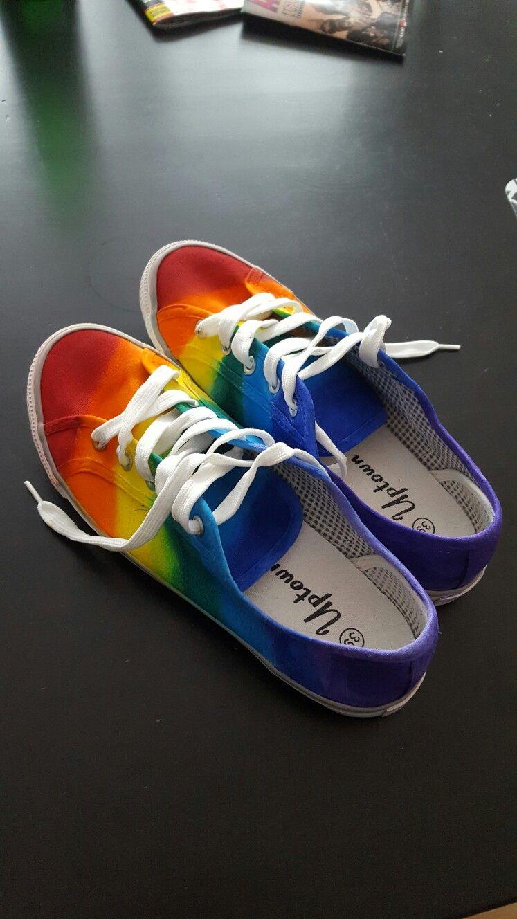 quality design ddb2b 4394a rainbowshoes regenbogenschuhe diy Pride, Colors, Colorful Shoes