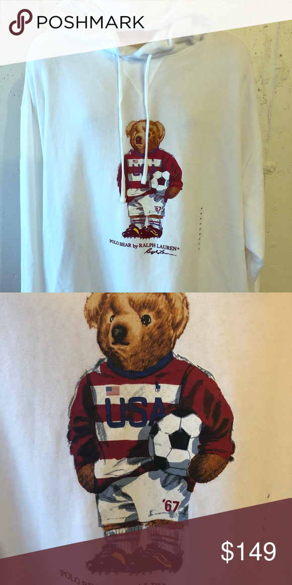 1285f6112a6 NWT RALPH LAUREN POLO SOCCER BEAR HOODIE 3XB For sale is a new with Tags  Ralph