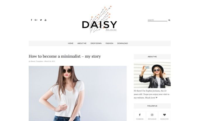 Daisy Clean Blogger Template Best Free Templates 2017 For S And Fashion Blogging Habits Blogs Blo Blog Themes