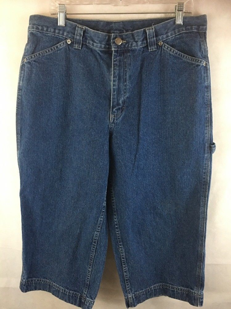 3d493b6f Riveted By Lee Capri Jeans Carpenter High Rise Cotton Denim Women's Size  16M #Lee #CapriCroppedCarpenter