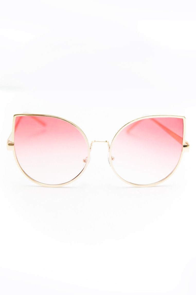 Half Way There Sunglasses - Gold