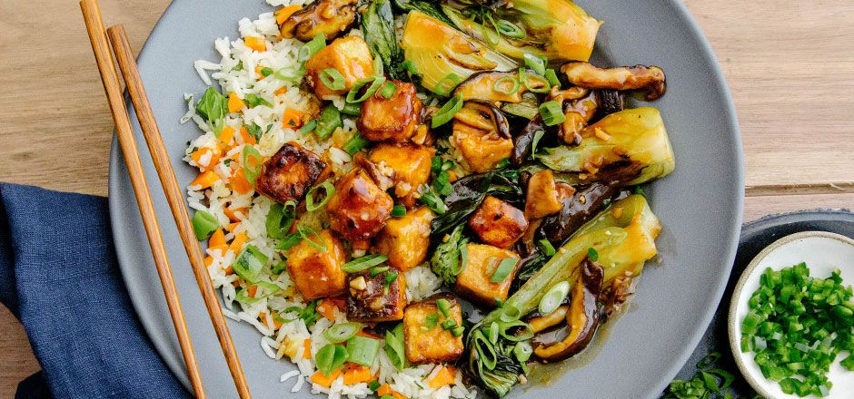I'm cooking Mongolian Tofu with Green Chef https://greenchef.com/recipes/mongolian-tofu-with-spring-veggie-rice-baby-bok-choy-and