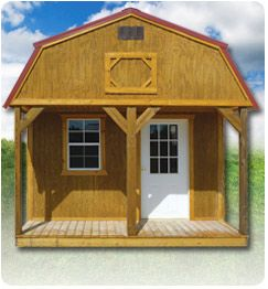 Lofted Cabin This Is Available Sizes Ranging From 10x16 Through 16x52 Comes Standard With 3 Windows A 9 Lite Door And T Cabin Roof Shingles Lp Smart Siding