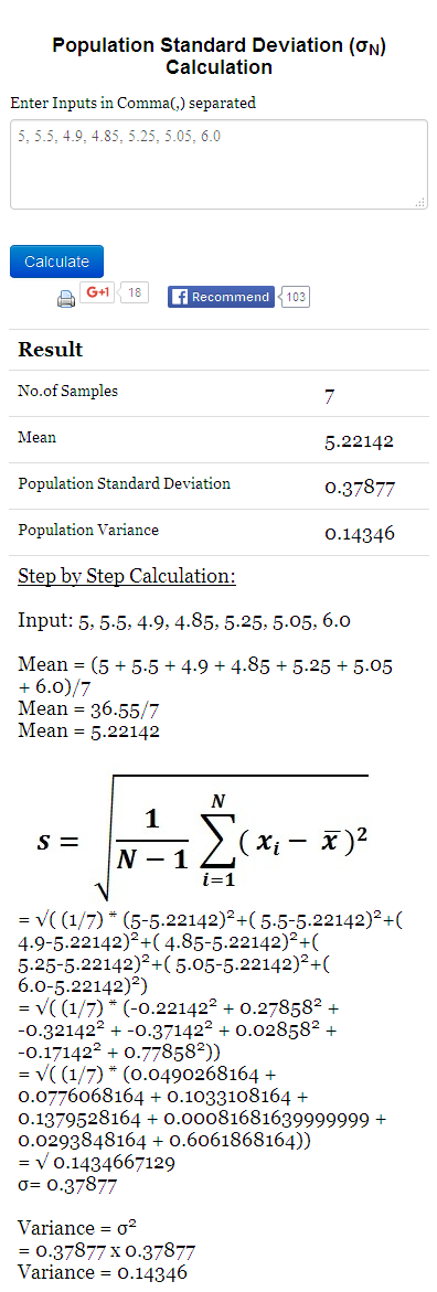 001 Pin by math examples on Standard Deviation Example
