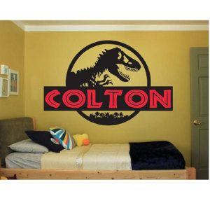 Dinosaur Name Wall Decal Sticker Large Kids Bedroom Big Fun Jurassic