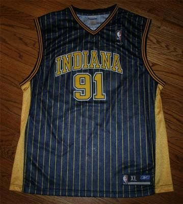 05afb23bf Ron Artest  91 Indiana Pacers pinstripe Reebok NBA Basketball Jersey-Men  size XL