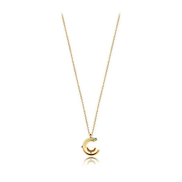Me Me necklace, letter C ($480) ❤ liked on Polyvore featuring jewelry, necklaces, initial necklace, letter jewelry, letter necklace, initial jewelry and letters necklace