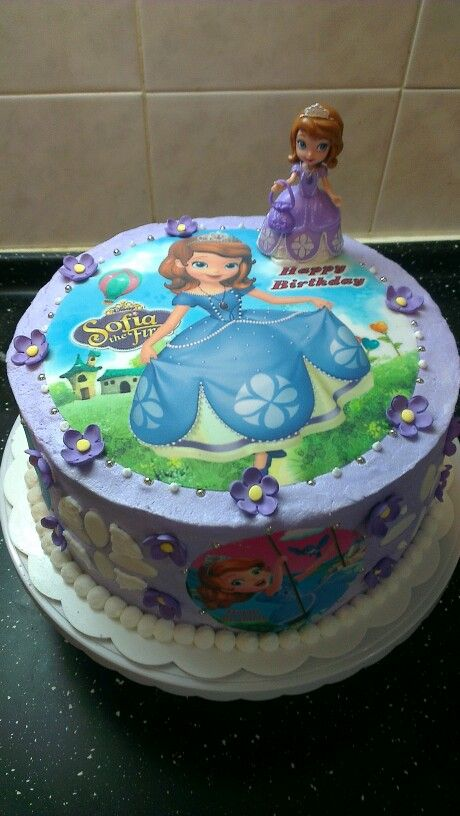 Sofia The First Birthday Cake Sharons Homemade Cakes Cookies
