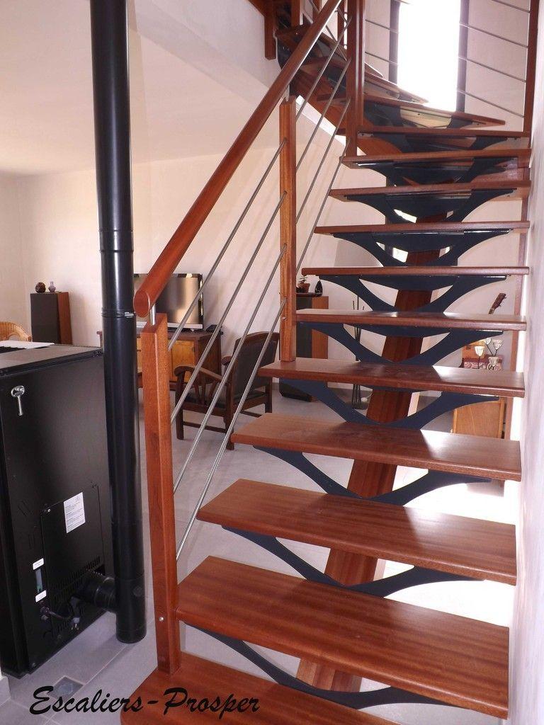 02 98 48 42 29 s rdv conception pose d 39 escaliers limon central bois mixte bois m tal. Black Bedroom Furniture Sets. Home Design Ideas