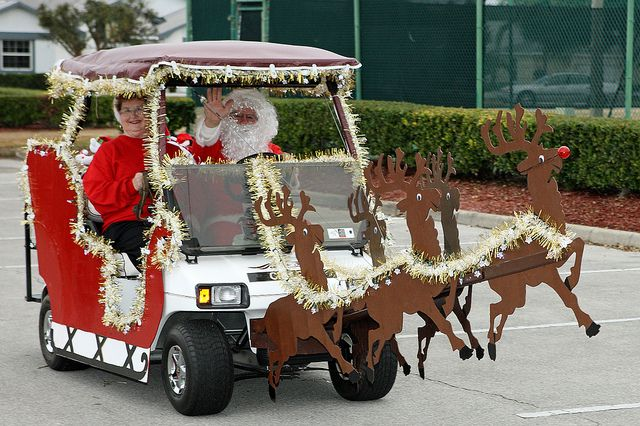 a golf cart in spirit of the season this is a salute to the golf cart christmas parade i witnessed dec 2011 disneys fort wilderness