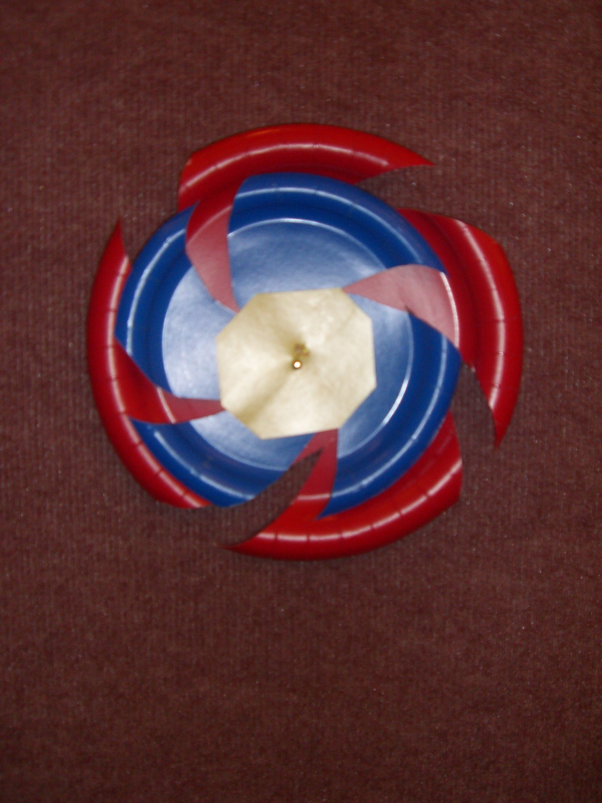Beyblade wall decorations i made out of paper plates from for Anime beyblade cake topper decoration set