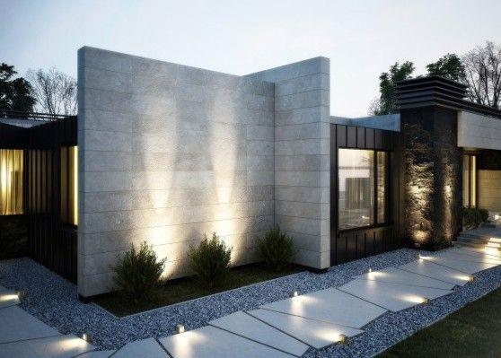 Vorgartengestaltung Mit Natursteinpaltten